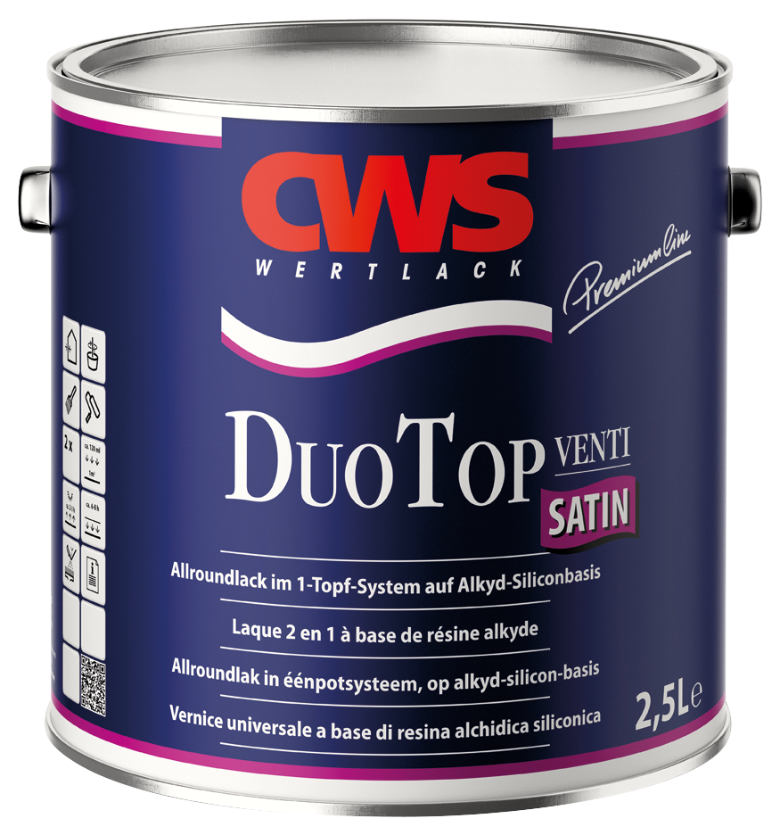 CWS Duo Top lack satin, weiss