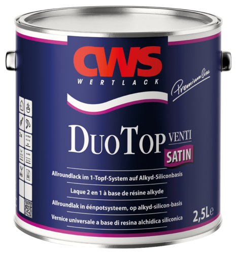 CWS Duo Top lacquer, satin white