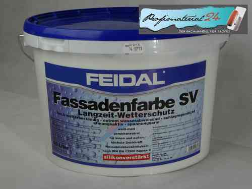 FEIDAL silicone reinforced fascade paint, white 10L