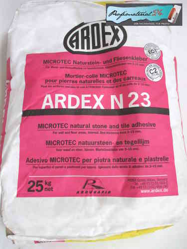 ARDEX N23 natural stone and tile adhesive, 25kg