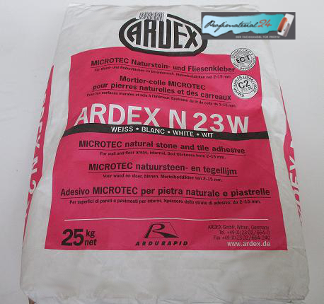 ARDEX N23W white natural stone and tile adhesive