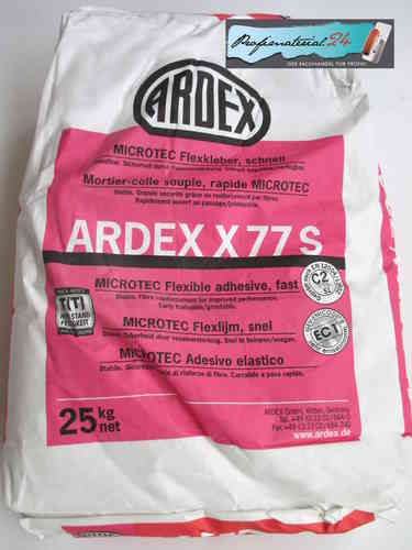 ARDEX X77S, MICROTEC flexible adhesive fast, 25Kg