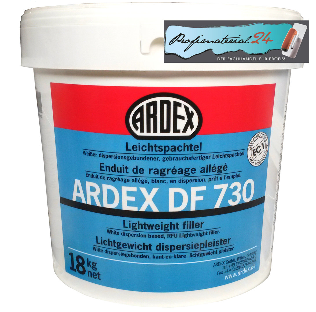 ardex df730 leichtspachtel profimaterial24 ihr ardex experte. Black Bedroom Furniture Sets. Home Design Ideas