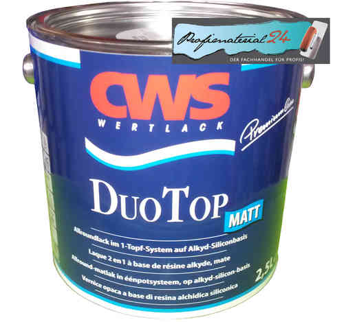 CWS Duo Top varnish, matt white
