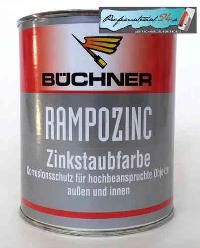 Büchner RAMPOZINC zinc dust paint, graphite gray