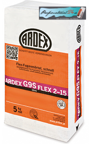 ARDEX G9S flexible tile grout fast 2-15