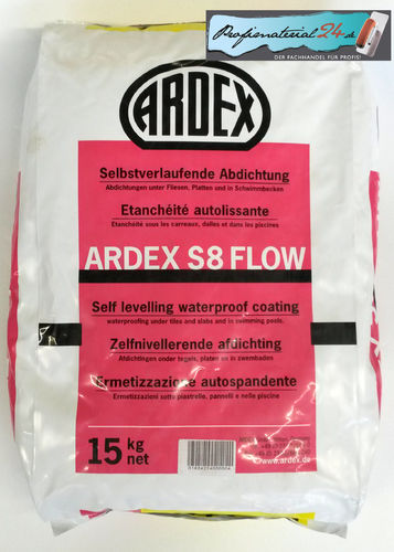 ARDEX S8 Flow selflevelling waterproof coating, 15kg
